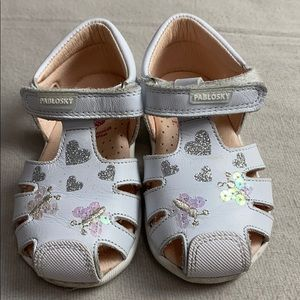 Pablosky White Baby Sandals Size 20